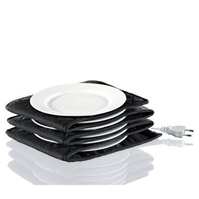 Küchenprofi Elektrischer Tellerwärmer XL 12 Teller 32 cm waschbar schwarz Durchmesser | 12092