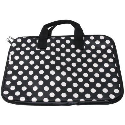 Laptoptasche Dots schwarz Tasche Aufbewahrung Laptop Transport Laptoptragetasche | 2054 / EAN:8714302380501