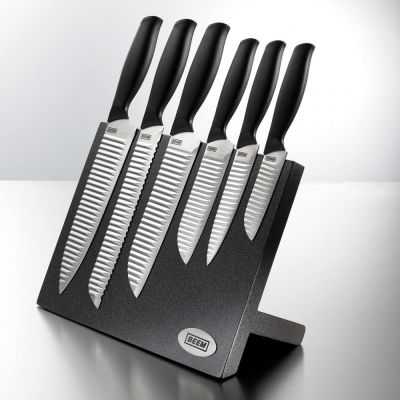 Messerblock Hanshu-Do Master 7-teilig schwarz Magnet mit Messer bestückt Set Küchenmesser Messerset | 9219 / EAN:4032934737208