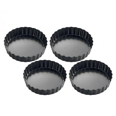 Mini Tarteformen rund 4-er Set Backformen klein Tarteletteform Kuchenform Backförmchen Backform | 10219 / EAN:4007371056847