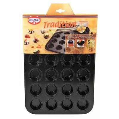 Muffinform Muffin-Backform Muffinblech Mini Muffinförmchen Cupcakes 24 Muffins | 9240 / EAN:4044935014813