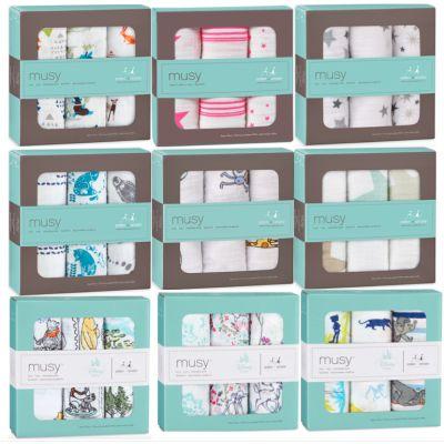 Mulltücher 3er Set Mullwindeln Spucktücher Stoffwindeln Baby Schmusetuch bedruckt | 9209