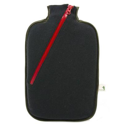 Ökologische Wärmflasche Softshell schwarz Wärmekissen mit Bezug biologisch Wärme-Therapie | 10777 / EAN:4250098531269
