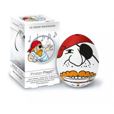 Piepei Piraten Piep Ei Eierkocher Eieruhr 3 in 1 Frühstücksei Eier kochen Shanty Freibeuter   10928 / EAN:4039457046909