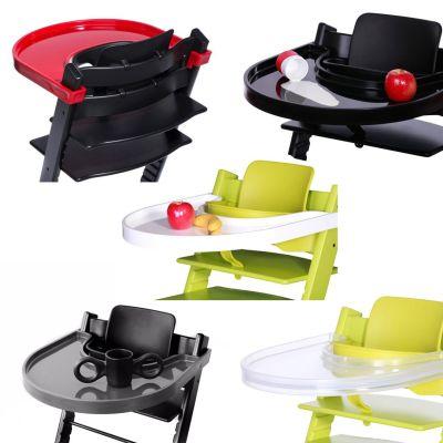 Playtray Tisch für den Stokke Tripp Trapp schwarz weiß rot transparent grau Hochstuhl Kinderstuhl anthrazit | 6324