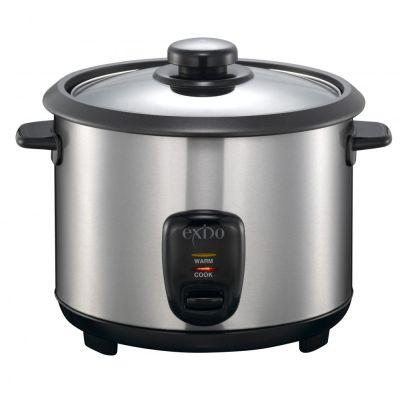 Reiskocher 1,5 Liter Edelstahl Reiskocher Rice Cooker Reiszubereitung Reis Dampfgarer Langkornreis | 5966 / EAN:5707160009397