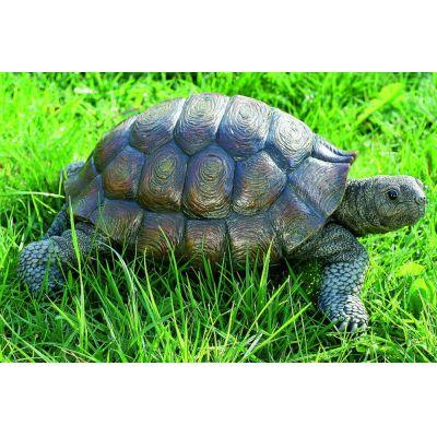 Schildkröte Kunstharz 34 cm Gartendeko Gartenfigur Tierfigur Gartentier Tier Landschildkröte Garten | 3535 / EAN:4020606518286