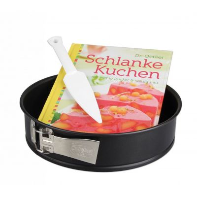 Schlanke-Kuchen-Set Backform Kuchenform 26 cm Backset Kuchenlöser Backbuch | 9238 / EAN:4044935014035