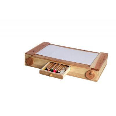 Scratchler Malkasten Malset Holzmalkasten Spielzeug Malunterlage Maltisch Kinder-Zeichentisch | 9093 / EAN:5425038230017
