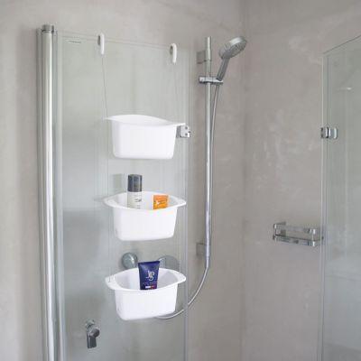 Shower Caddy Oasis weiß Duschablage Dusche Regal Ablage Ablagekorb Duschkorb Duschregal | 10476 / EAN:0028295539616