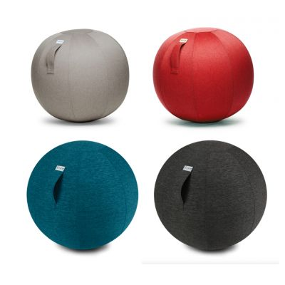 Sitzball Stoff verschiedene Farben Design Gymnastikball ergonomisches gesundes Sitzen Ball Drehstuhl   9583