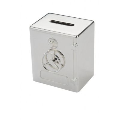 Spardose Banksafe Sparbüchse versilbert Tresor Silber Kinder | 3393 / EAN:4042835053291
