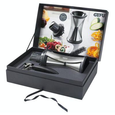 Spirelli XL Premium Set Spiralschneider Sparschäler Gemüseschneider 13700 Gefu 13650 Geschenkset | 8690 / EAN:4006664000925