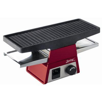 Spring Tischgrill heißer Stein Grill Grillplatte Raclette2+ rot Basisgerät | 1682 / EAN:7640116141803