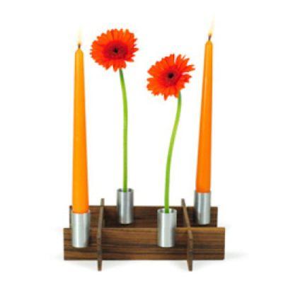 Steckvase und Leuchter fest-x Blumenvase Kerzenleuchter Kerzenhalter Kerzenständer Tischdekoration   7115 / EAN:4260090076965