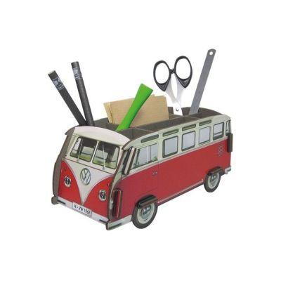 Stiftebox VW Bus rot Stifteköcher Volkswagen Bully Stifte Box Schreibtisch Ordnung | 5679 / EAN:4019435120081