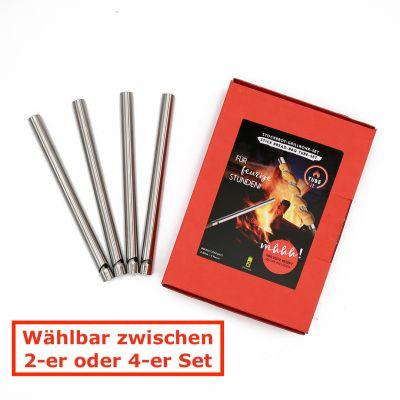 Take2 Tube it Stockbrot Grillrohr 2er oder 4er Set Spieße Edelstahl selbst machen   15692