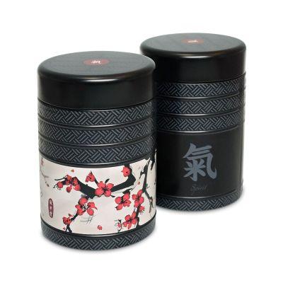 Teedosen 2-er Set Kyoto 125g Vorratsdosen Tee Aufbewahrung Kaffeedose Blechdose rund Tee Dose Deckel | 12122 / EAN:4260082930022