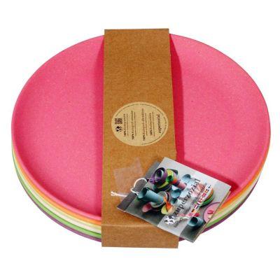 Teller Rainbow Set 6 Stück Kuchenteller 6-teilig Frühstücksteller umweltfreundlich 100 % Bio Kinderg | 8385 / EAN:8717371221232