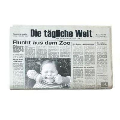 Tischset Newspaper 2er Set inkl. Bilderrahmen Tischset Bilderrahmen witzige Geschenkidee Platzsets | 2436 / EAN:8714302461699