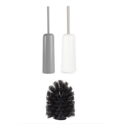 Toiletten Garnitur Ersatzbürste Touch WC Ausstattung grau weiß schwarz   13760