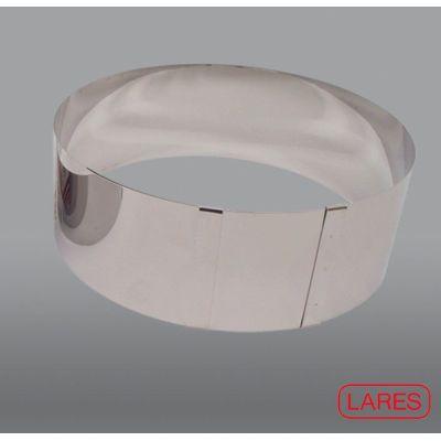 Tortenring Edelstahl 9 cm hoch Backrahmen verstellbar hoher Springform Backform rund stufenlos | 8443 / EAN:4003244060096