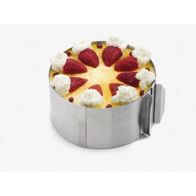 Tortenring verstellbar stufenlos Edelstahl Torte Torten Ring Backform | 7657 / EAN:4010411150504