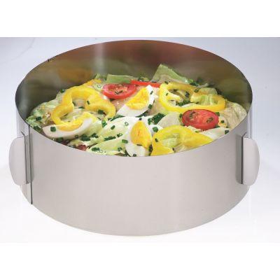 Tortenring XXL Torten-Ring Backrahmen Edelstahl verstellbar extra hoch rund | 6184 / EAN:4006664143042