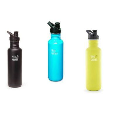Trinkflasche Classic Sport 800 ml Sportflasche Kinderflasche Edelstahl Flasche | 8916