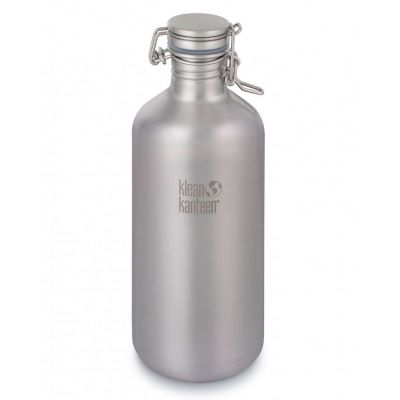 Trinkflasche Growler Edelstahl 1900 ml doppelwandig Outdoor Flasche Camping | 1841354475 / EAN:0763332039048
