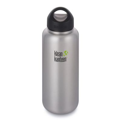 Trinkflasche Wide 1182 ml Edelstahl gebürstet Flasche Wasserflasche Water Bottle Sportflasche | 11734 / EAN:0763332038942