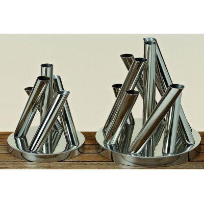 Vase Damion 5er silber Blumenvase Deko Blumen Tischvase Dekoobjekt Aluminumvase | 3401 / EAN:4020606802729