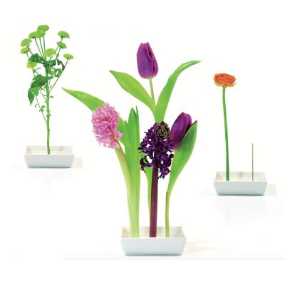 Vase weiß Keramik Florida Design Tischdekoration Tischdeko Blumen Dekoration Tischvase Blumenvase Steckvase | 3247 / EAN:4260090074275