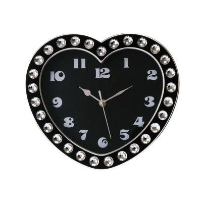 Wanduhr Heart Diamonds Wanduhr Herz Designeruhr Uhr Clock Diamonds Kunststoff Time | 3118 / EAN:8714302385537