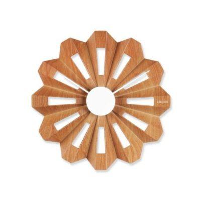 Wanduhr Lotus Flower Holz Uhr Wand | 3285 / EAN:8714302506062