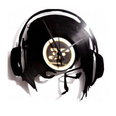 Wanduhr Schallplatte DJane@Work DJ DJane Dekoration Uhr Vinyl Platte Retro Deko LP Langspielplatte | 4321