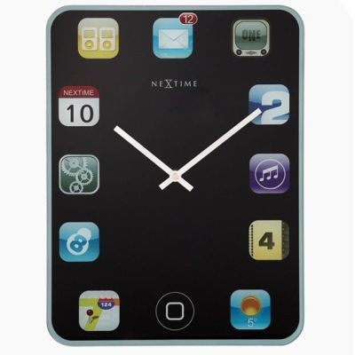 Wanduhr Wallpad 40 x 30 cm Wand Uhr Tablet Gadhet | 5832 / EAN:8717713004820