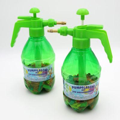 Wasserbomben Pumpe mit 300 Wasserballons 2er Set Füllhilfe Wasserschlacht Wasserbombenpumpe   9340 / EAN:4250967803244