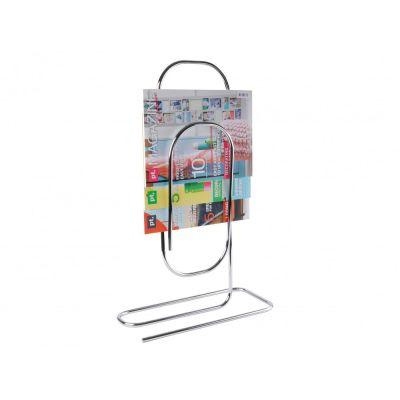 Zeitschriftenständer Paperclip Metall chrom Zeitungsständer Zeitungskorb Zeitungsablage | 3241 / EAN:8714302502392