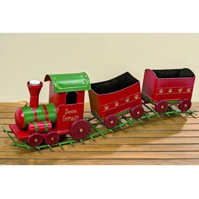 Zug Sapri rot Dekoration grün Weihnachten Weihnachtsdeko Eisenbahn Advent | 8941