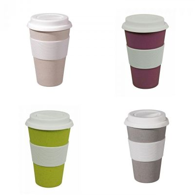 Zuperzozial Reisebecher Autobecher Becher Coffee to go Kaffeebecher weiß grau violett lila gelb Tasse | 13963