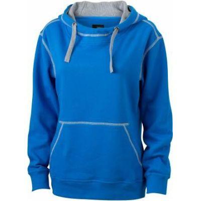 JN Ladie´s Lifestyle Zip-Hoody Cobalt - Hellgrau, Grösse S | jn962xxx01-100-380 / EAN:0651650570124
