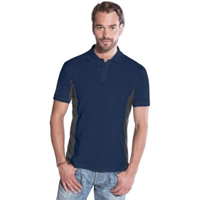 Promodoro Men Function Contrast Polo Navy - hell grau, Gr. L | 452039101-300-391 / EAN:0651650570070