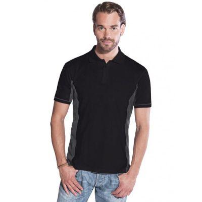 Promodoro Men Function Contrast Polo schwarz - hell grau, Gr. L | 452025401-300-254 / EAN:0651650570070