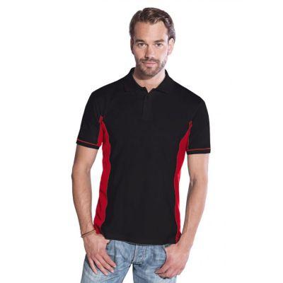 Promodoro Men Function Contrast Polo schwarz - rot, Gr. L | 452014301-300-143 / EAN:0651650570070