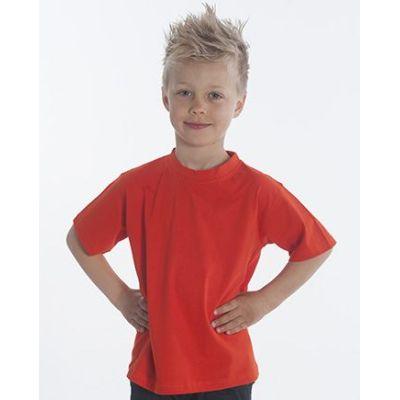 SNAP T-Shirt Basic-Line Kids, Gr. 128, Farbe rot | 060119-300-04 / EAN:0651650570032