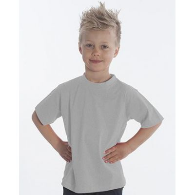 SNAP T-Shirt Basic-Line Kids, Gr. 140, Farbe Asche | 060119-300-12 / EAN:0651650570032
