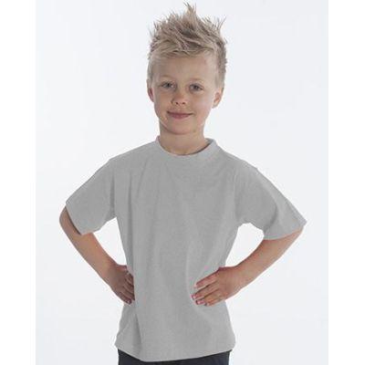SNAP T-Shirt Basic-Line Kids, Gr. 152, Farbe Asche | 060119-400-12 / EAN:0651650570032