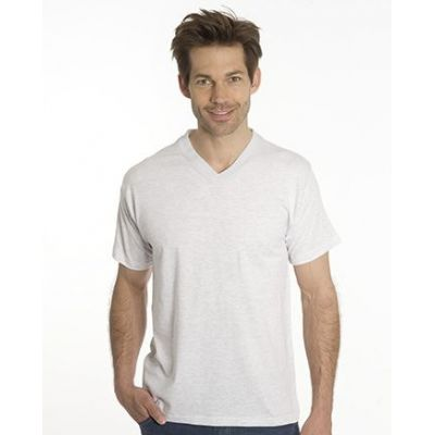 SNAP T-Shirt Flash Line V-Neck Unisex, asche, Gr. 5XL | 100103-800-12 / EAN:0651650570056