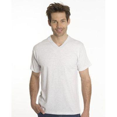 SNAP T-Shirt Flash Line V-Neck Unisex, asche, Gr. M | 100103-200-12 / EAN:0651650570056
